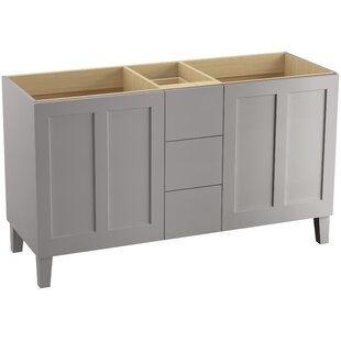 Poplin? 60 Vanity with Furniture Legs, 2 Doors and 3 Drawers by Kohler