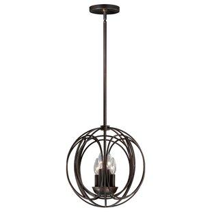 Wrought Studio Cahoon 4-Light Globe Chandelier