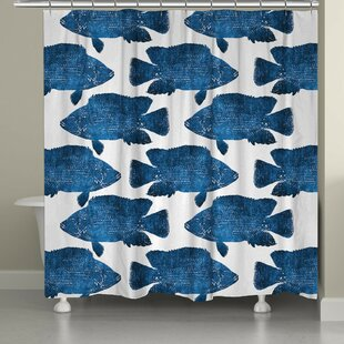 Keilen Fish Shower Curtain By Longshore Tides
