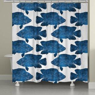 Keilen Fish Single Shower Curtain