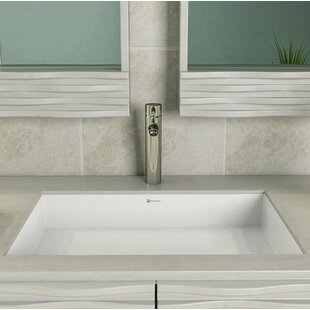 Check Prices Saidi NULL Rectangular Undermount Bathroom Sink with Overflow By DECOLAV
