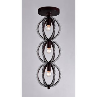 Mitchum 3-Light Semi Flush Mount by Gracie Oaks