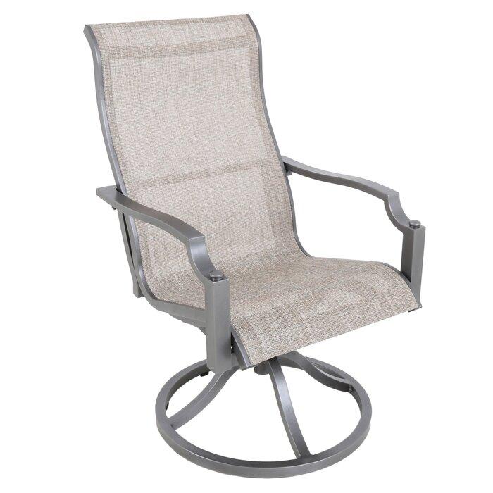 Genial Konevsky Sling Swivel Patio Dining Chair