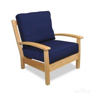 Teak Deep Seating Club Chair with Cushion (Set of 2) by Regal Teak