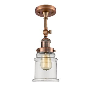 Laurel Foundry Modern Farmhouse Greeley 1-Light Semi Flush Mount