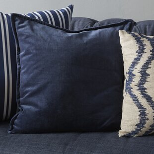 Bradford Smooth 100% Cotton Velvet Throw Pillow