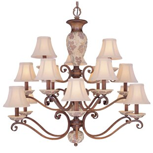 Classic Lighting Tapestry 15-Light Shaded Chandelier