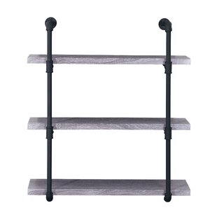 Cillian 3 Tier Faux Wood Wall Shelf