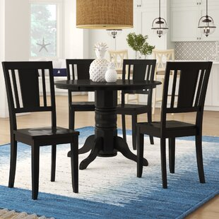 Langwater 5 Piece Dining Set by Beachcrest Home No Copoun