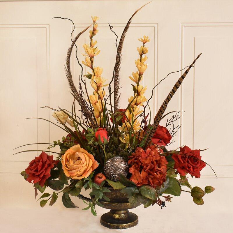 Floral Home Decor Silk Flower Floral Arrangement Reviews Wayfair