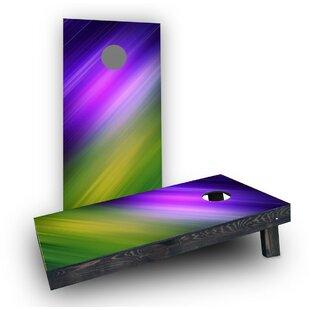 Custom Cornhole Boards Blue Purple Yellow Green Shine Cornhole Boards (Set of 2)