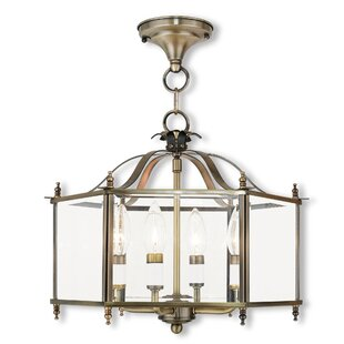 Claysburg 4-Light Semi Flush Mount by Charlton Home
