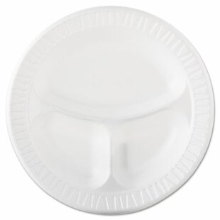3 Compartment Foam Plastic Plate (Set of 500)