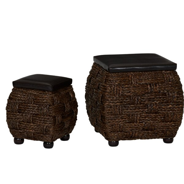 Outdoor Wicker Storage Ottoman Wayfair