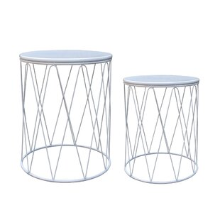 Brzozowski 2 Piece Metal Side Table Set