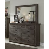 Castagnier 9 Drawer Chest with Mirror by Lark Manor