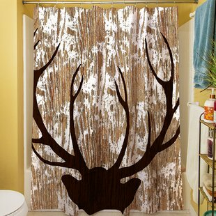 Deer Horn Single Shower Curtain