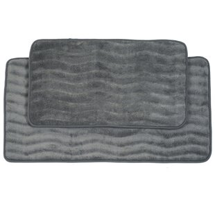Memory Foam 2 Piece Bath Rug Set