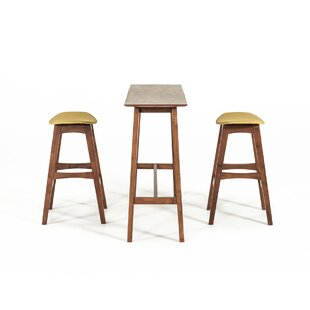 George Oliver Cottman Modern 3 Piece Pub Table Set