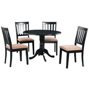 Shorewood 5 Piece Drop Leaf Solid Wood Dining Set by August Grove 2019 Coupon