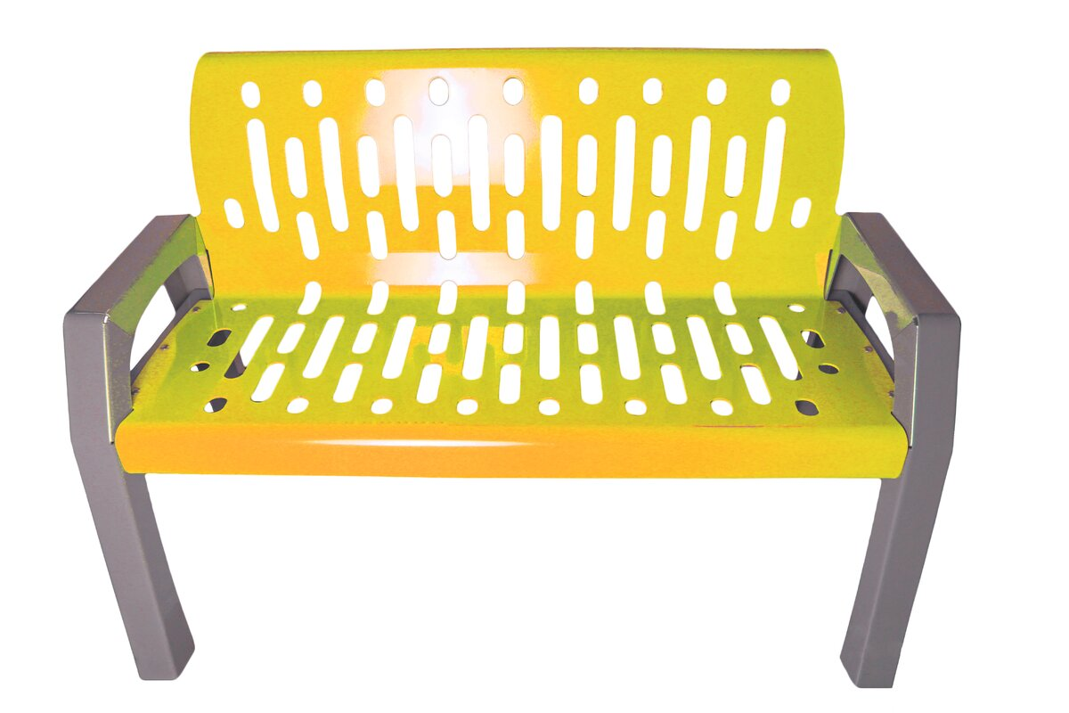Best Stream Steel Park Bench By Frost Products