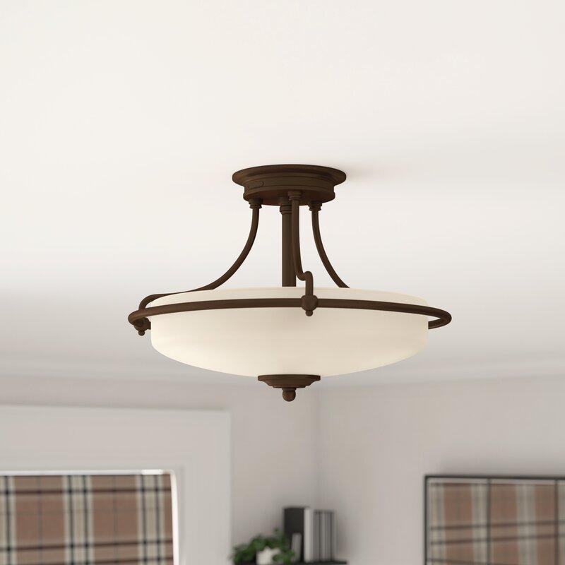 Marlow Home Co Rockwood 3 Light Semi