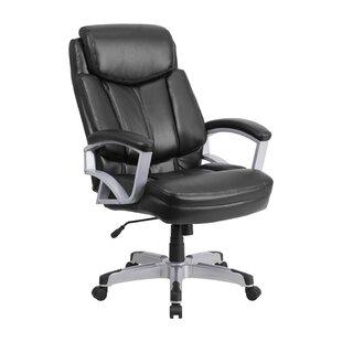 Latitude Run Ash High-Back Leather Executive Chair