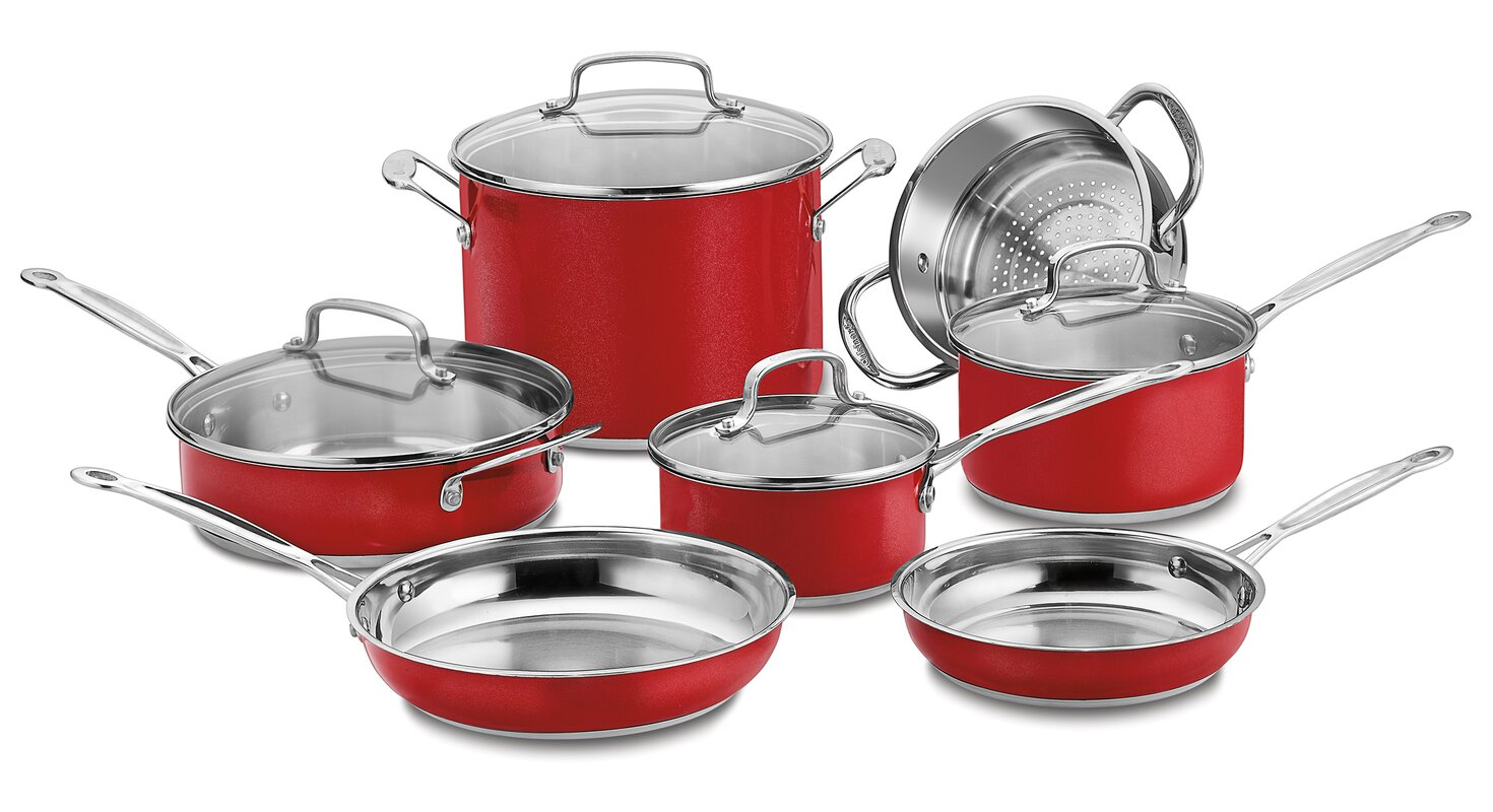 Cuisinart Chef's Classic Stainless Steel 11-Piece Cookware Set ...