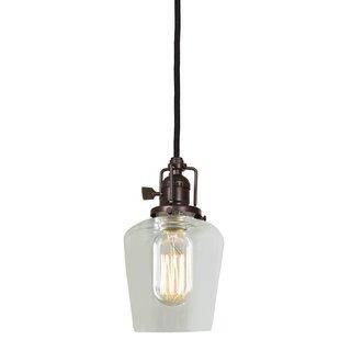 Shumway 1-Light Bell Pendant by Breakwater Bay