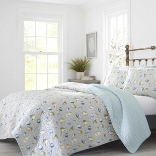 Cockatoo Bay Cotton Reversible Quilt Set By Laura Ashley Home by Laura Ashley Wonderful