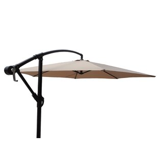 Vilonia Offset Adjustable Patio 10' Cantilever Umbrella by Freeport Park Comparison