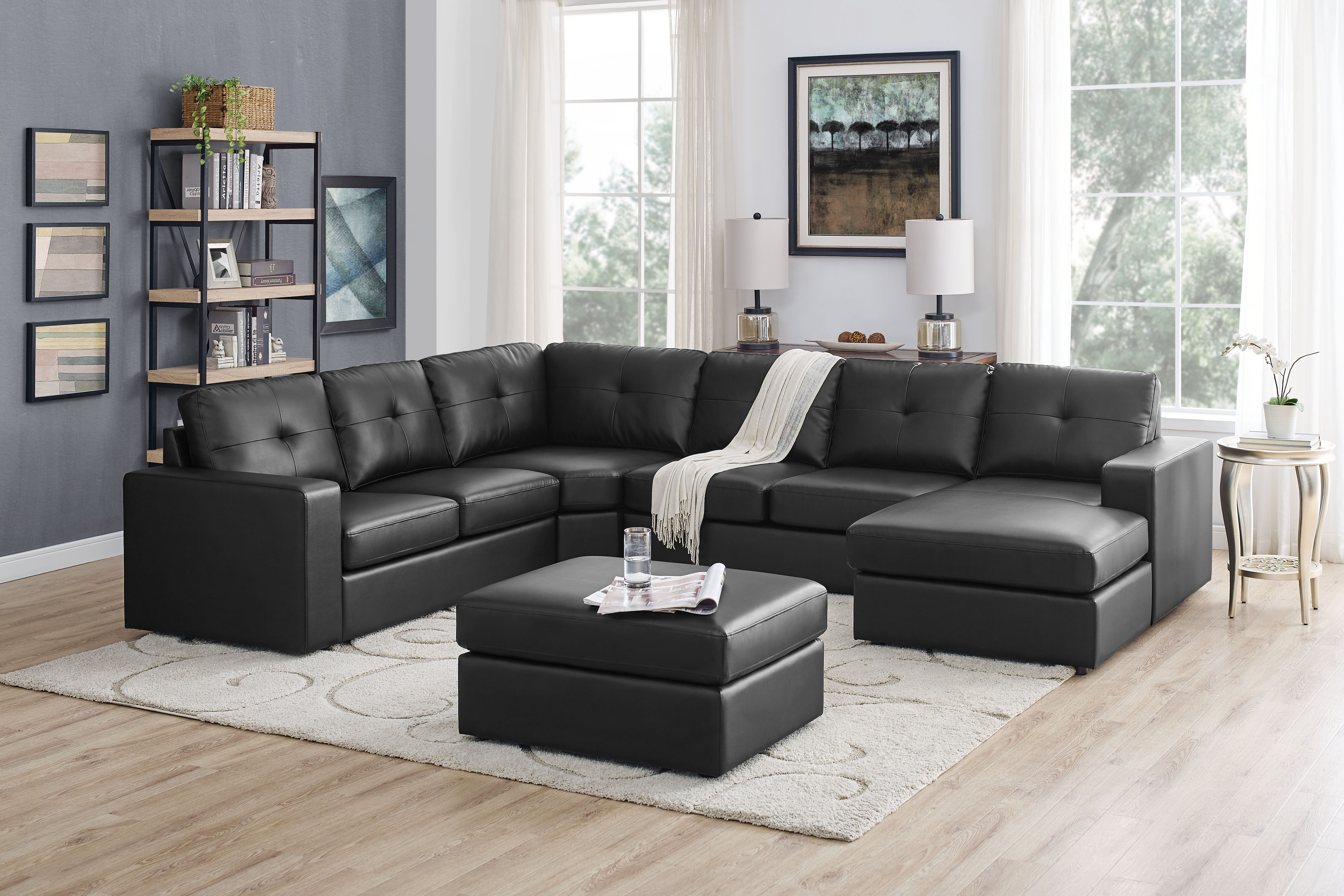 Excellent Auton 5 Seater Right Hand Facing Sectional Sofa With Ottoman Short Links Chair Design For Home Short Linksinfo