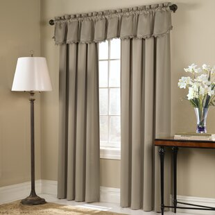 Truro Solid Semi-Sheer Rod Pocket Single Curtain Panel by Charlton Home