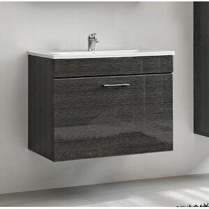 Belfry Bathroom 80 cm Wandmontierter Waschtisch Viento mit Spiegel, Armatur und Schränken