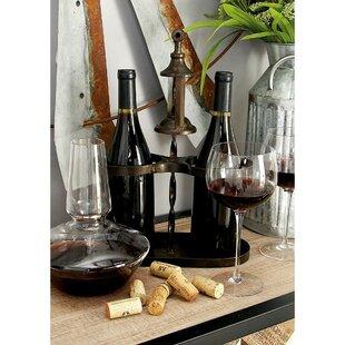 Lundys Metal 2 Bottle Tabletop Wine Bottle Rack