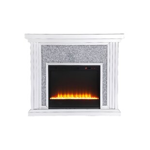 Abdiel Electric Fireplace by R..
