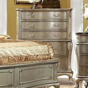 Gioia Floral Carved 5 Drawer Chest