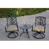 Batista 3 Piece Bistro Set with Cushions