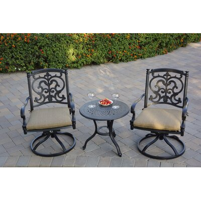 Batista 3 Piece Bistro Set With Cushions by Fleur De Lis Living 2020 Sale