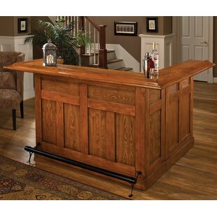 Darby Home Co Potomac Home Bar with Wine Storage