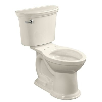 American Standard VorMax Heritage 1.28 GPF Elongated Two-Piece Toilet (Seat Not Included) Color: Linen