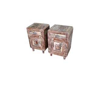 Bilroy Hand Painted End Table by Bungalow Rose
