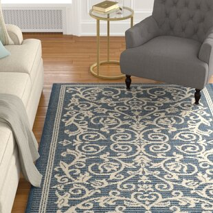 Bexton Navy & Beige Indoor/Outdoor Area Rug II