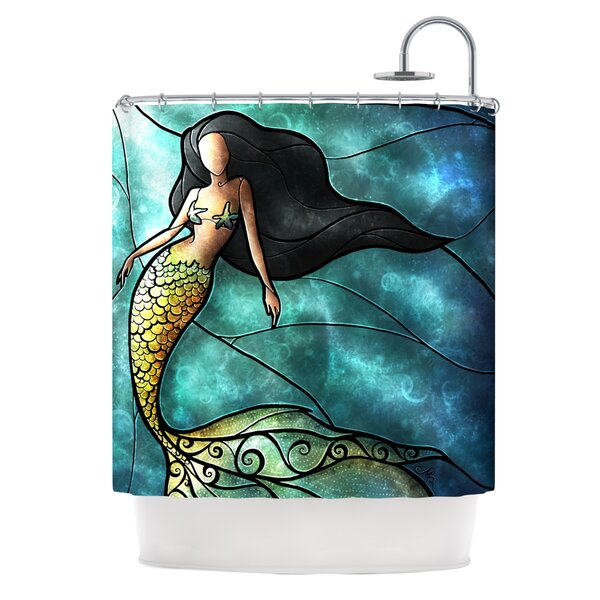 Exceptional KESS InHouse Mermaid Shower Curtain U0026 Reviews | Wayfair