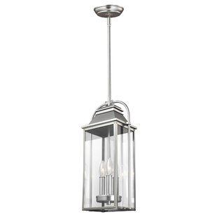 Read Reviews Shekar 3-Light Outdoor Hanging Lantern By Gracie Oaks
