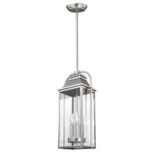 Low priced Shekar 3-Light Outdoor Hanging Lantern By Gracie Oaks
