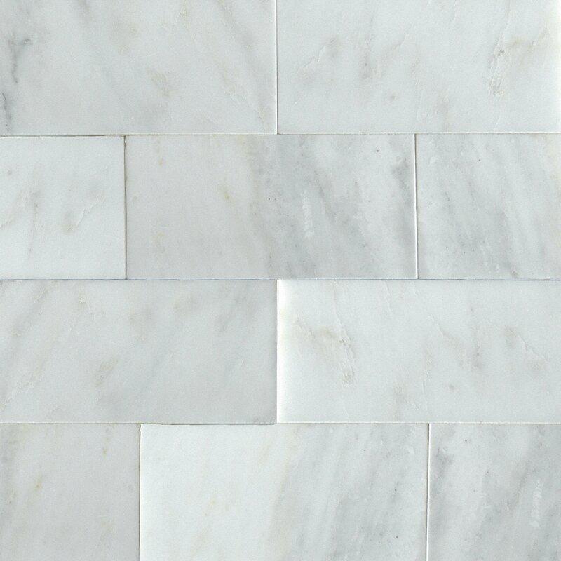 Msi Greecian 3 X 6 Marble Look Wall Floor Tile Reviews Wayfair