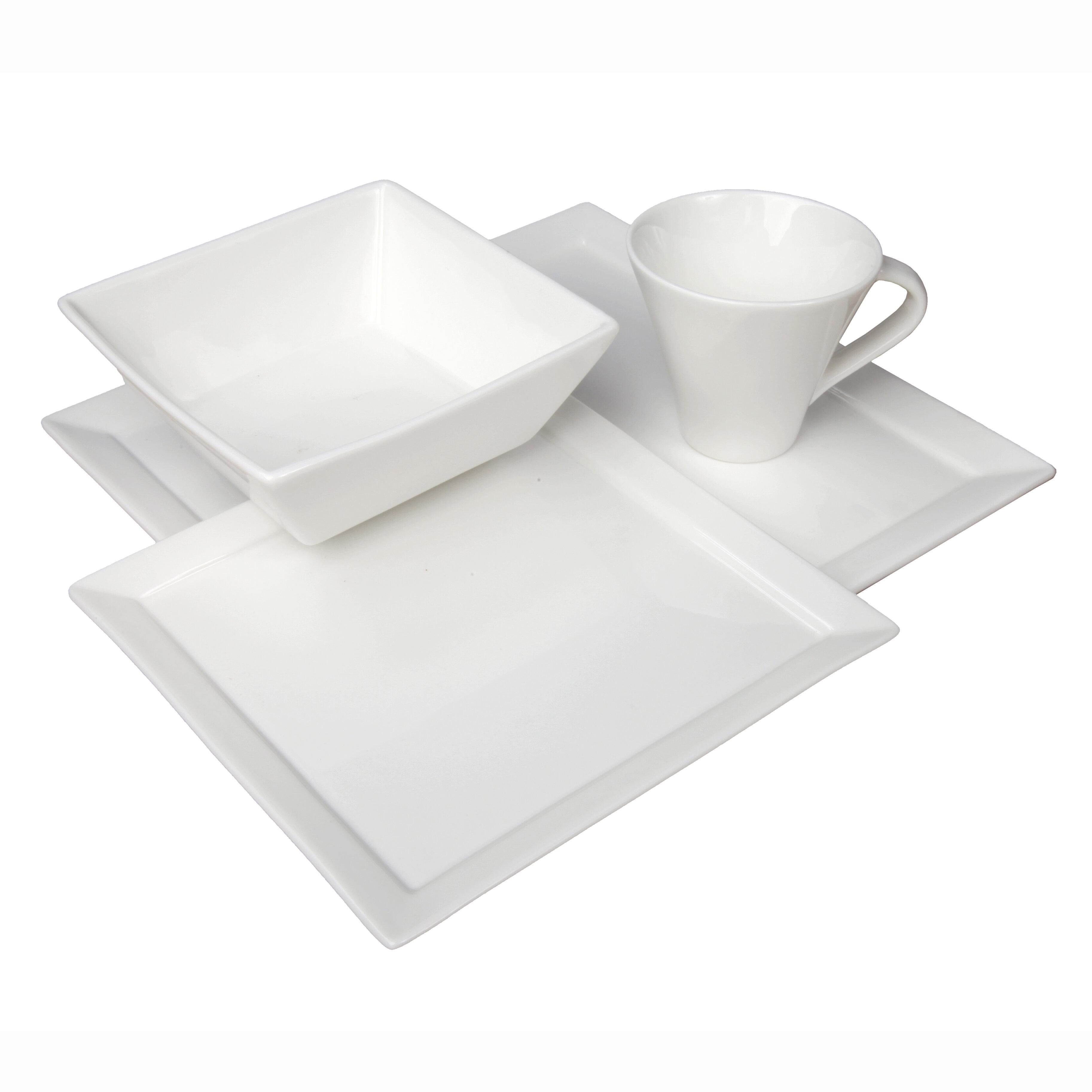 4-Piece Coffee Service Set Fortessa Fortaluxe Vitrified China Dinnerware