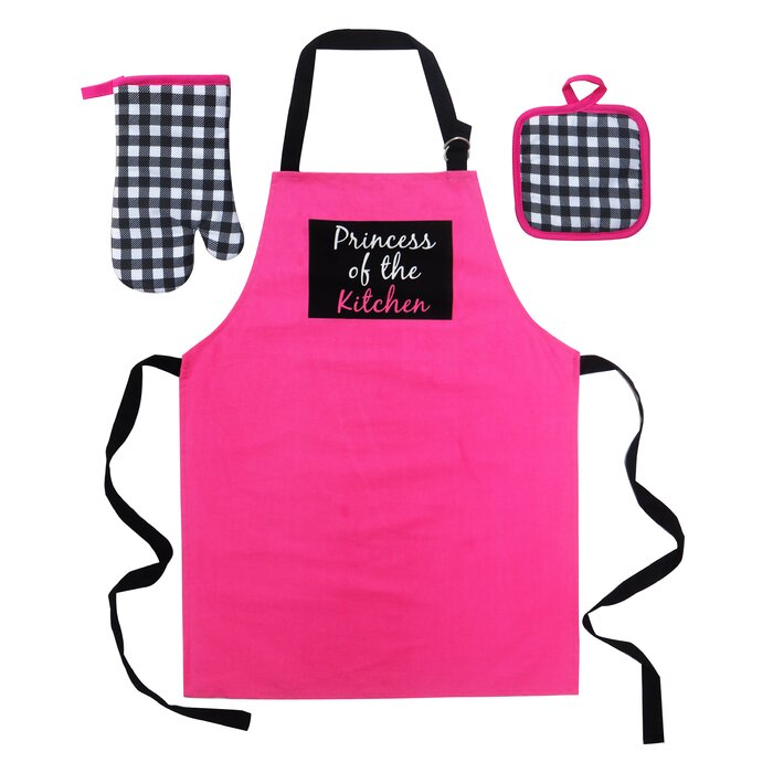 Princess of the Kitchen 3 Piece Apron Set