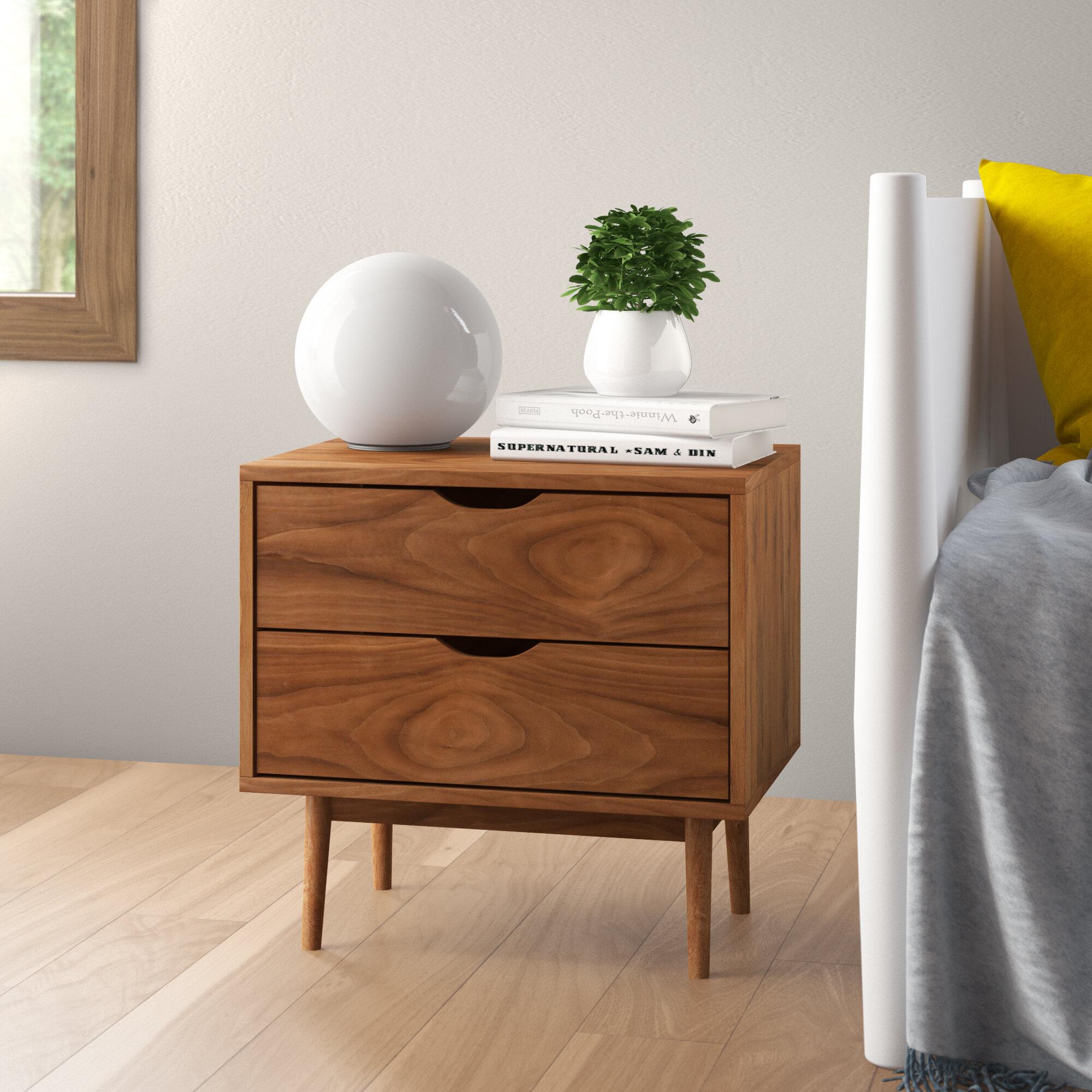 Bedside Tables Cabinets 4 Drawer Bedside Solid Wood Grey Table Modern Furniture Tapered Legs Assembled Home Furniture Diy Quatrok Com Br